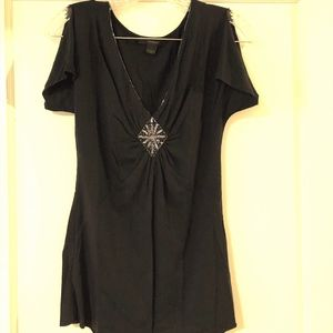 Express Tops - Black slinky blouse
